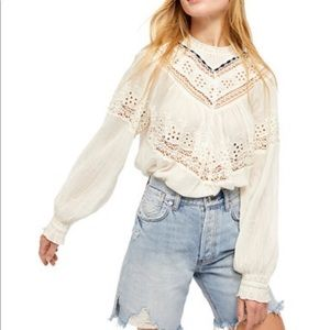 Free People Abigail Victorian Blouse